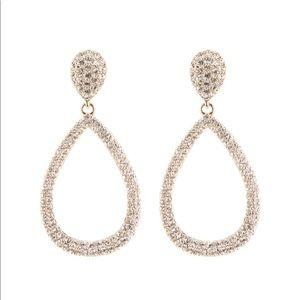 Nadri Pavé Crystal Teardrop Earrings NWT